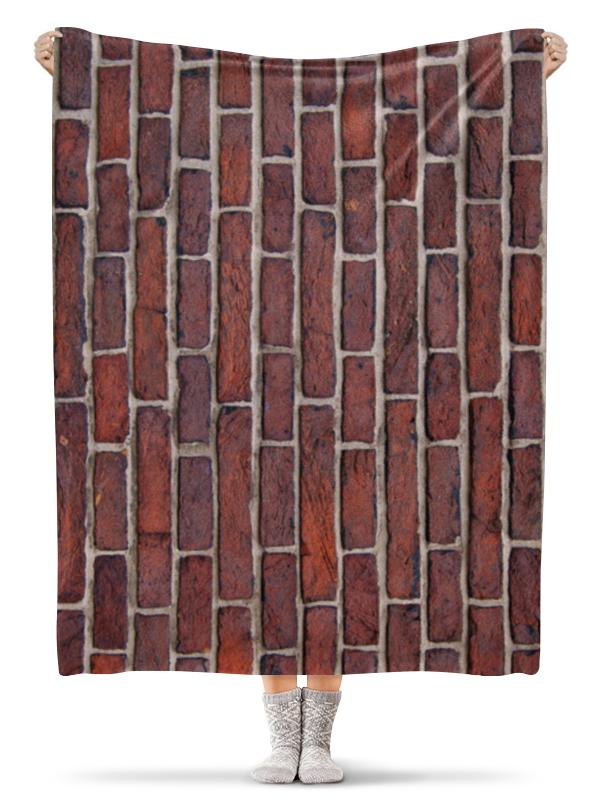 Printio Плед флисовый 130×170 см Кирпичная кладка