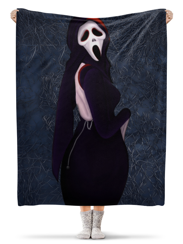 Printio Плед флисовый 130×170 см Призрачное лицо