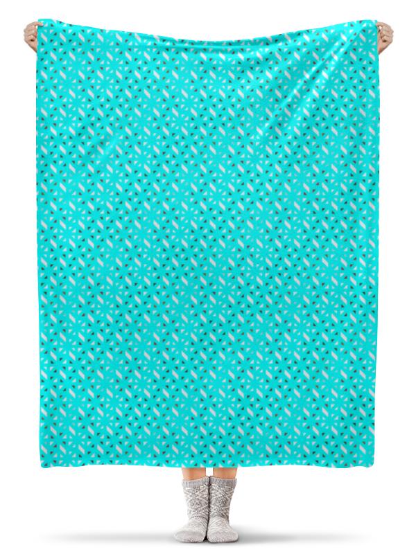 Фото - Printio Плед флисовый 130×170 см Голубой узор printio плед флисовый 130×170 см красные маки на белом фоне