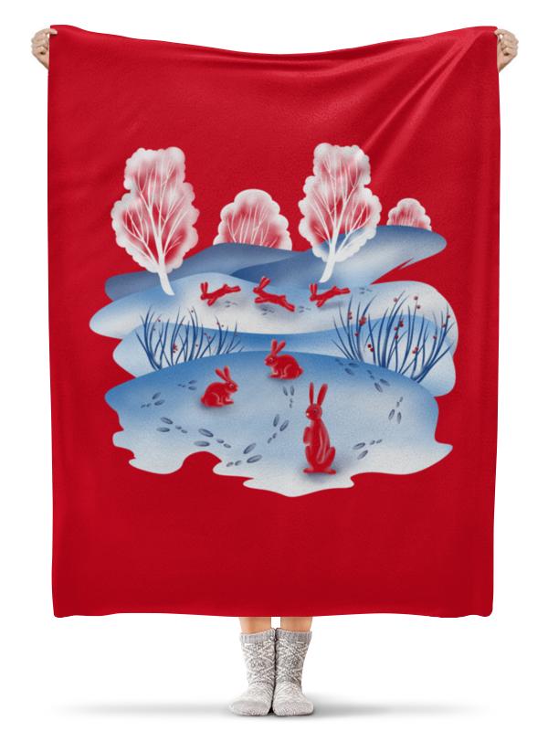 Фото - Printio Плед флисовый 130×170 см Красные зайцы printio плед флисовый 130×170 см красные маки на белом фоне