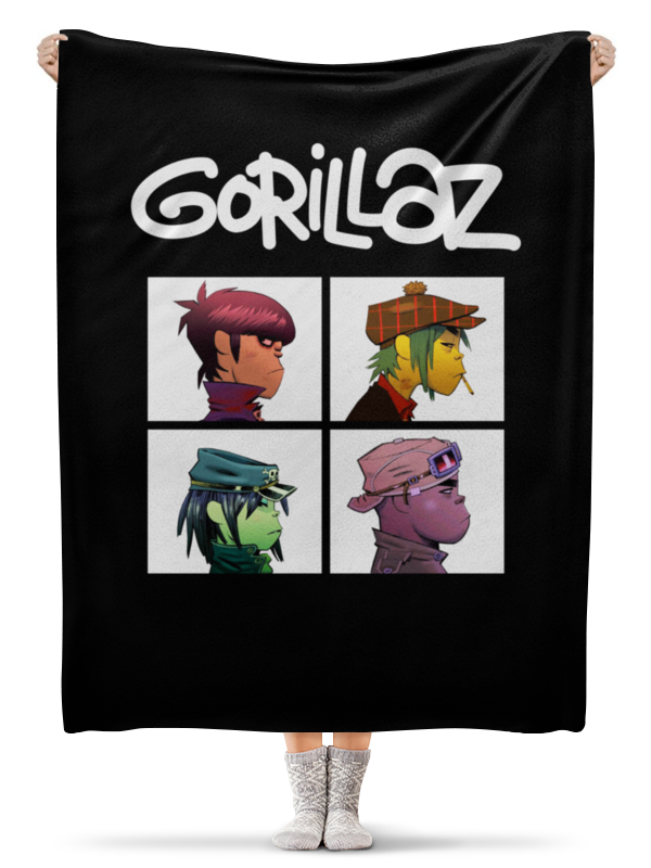 printio gorillaz Printio Плед флисовый 130×170 см Gorillaz