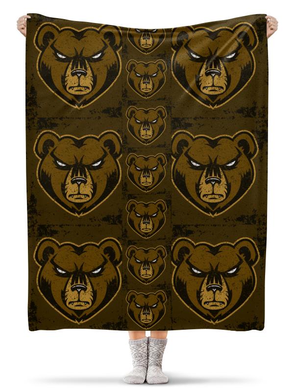 Printio Плед флисовый 130×170 см Медведь. символика