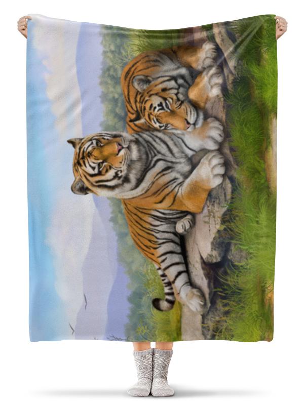 Фото - Printio Плед флисовый 130×170 см Тигры printio плед флисовый 130×170 см красные маки на белом фоне