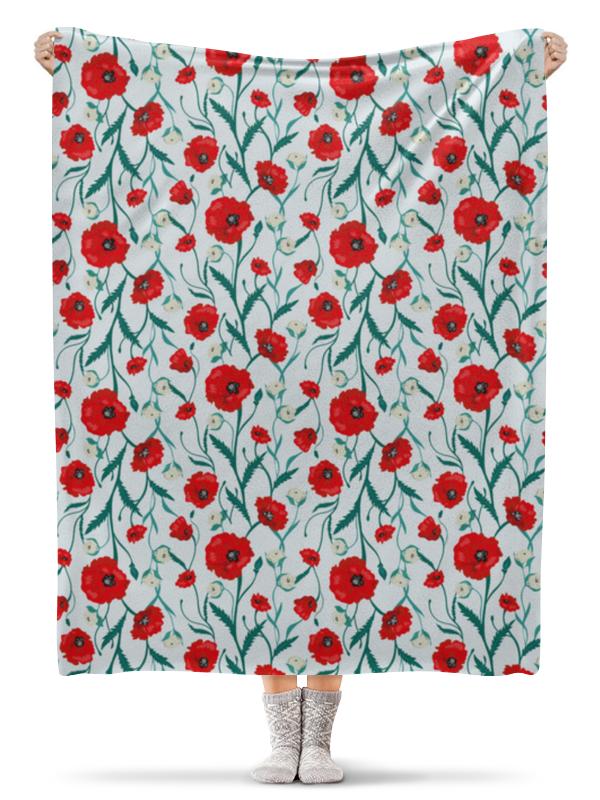 Фото - Printio Плед флисовый 130×170 см Красные маки на белом фоне printio плед флисовый 130×170 см красные маки на белом фоне