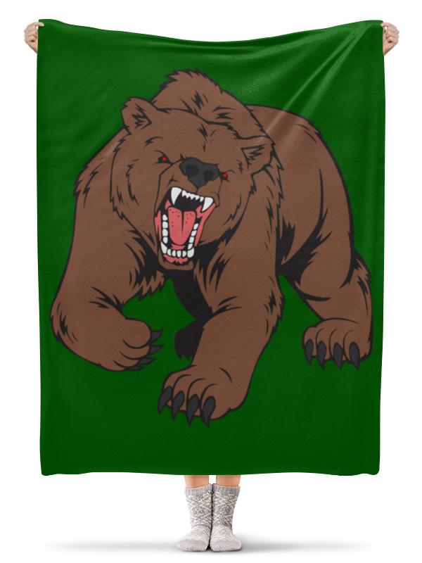 Printio Плед флисовый 130×170 см Bear / медведь