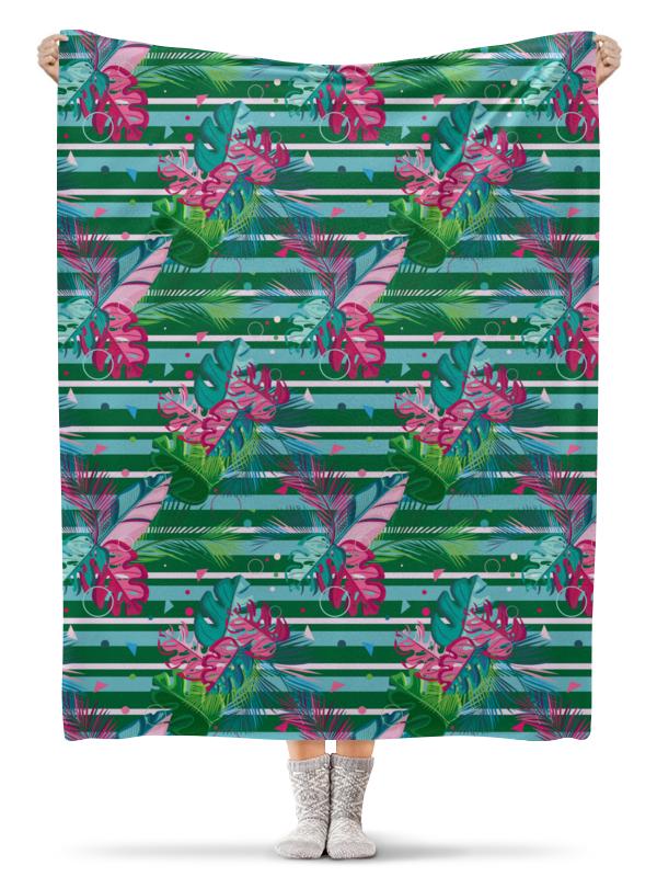 Фото - Printio Плед флисовый 130×170 см Полосатые тропики printio подушка для шеи полосатые тропики
