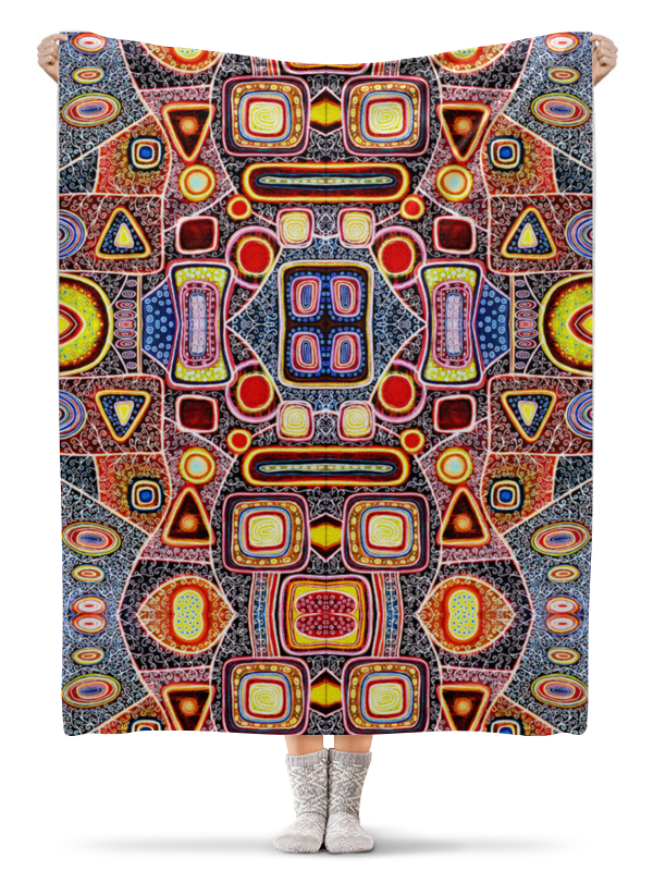 Printio Плед флисовый 130×170 см Гравитация