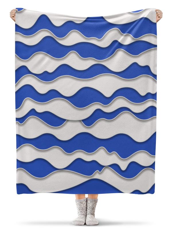 Фото - Printio Плед флисовый 130×170 см Абстрактные волны printio плед флисовый 130×170 см красные маки на белом фоне
