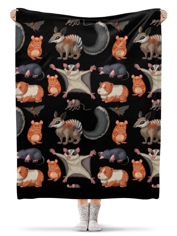 Printio Плед флисовый 130×170 см Дикие животные