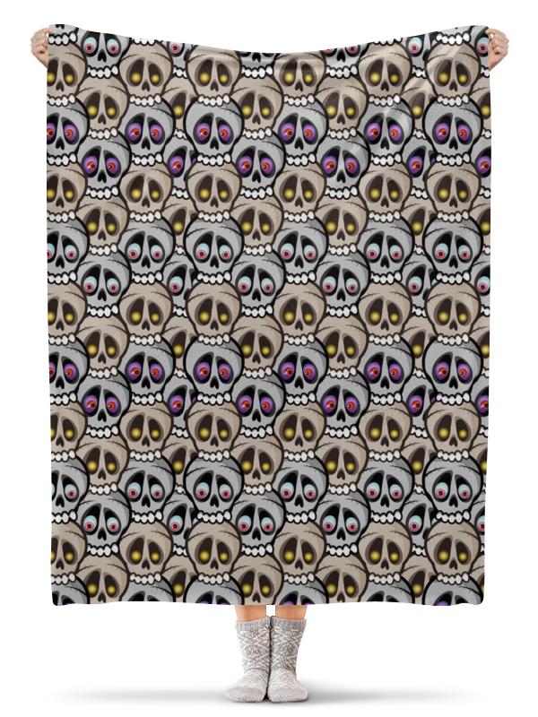 Printio Плед флисовый 130×170 см Парад черепов