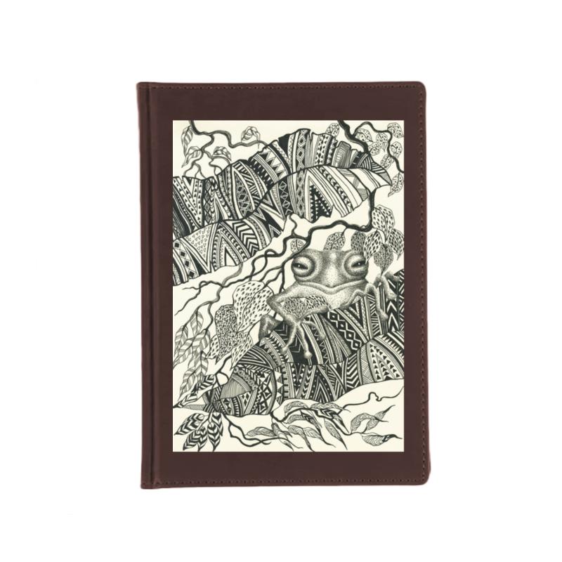 Printio Ежедневник недатированный Лягушка на листьях