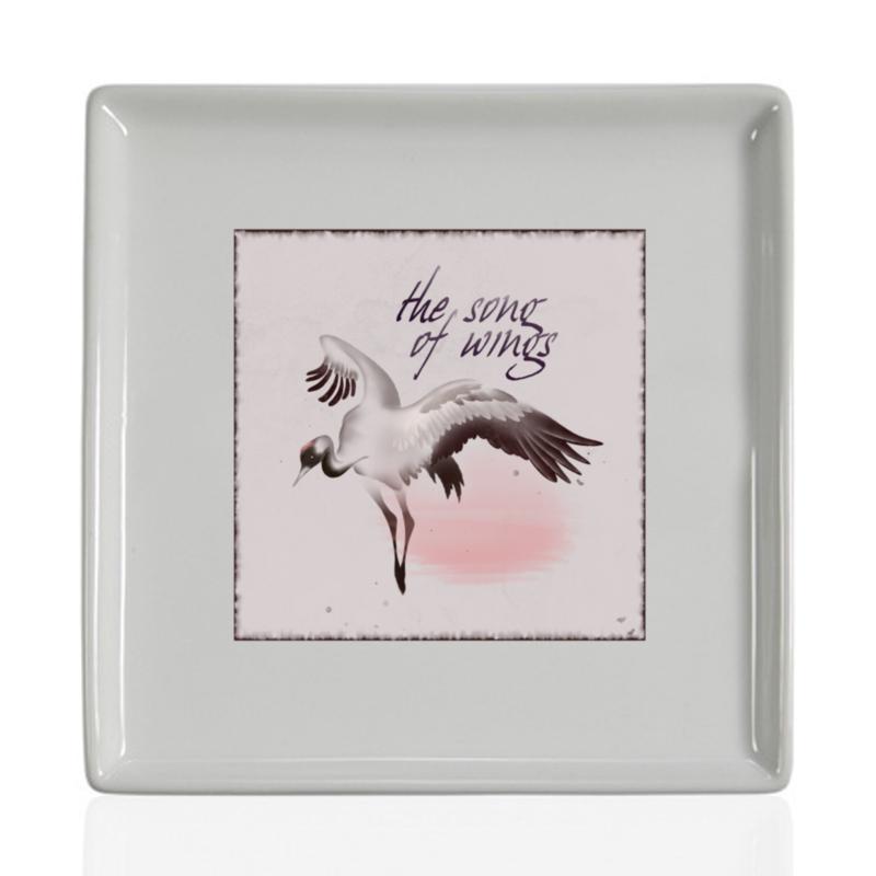 Printio Тарелка квадратная Песня крыльев