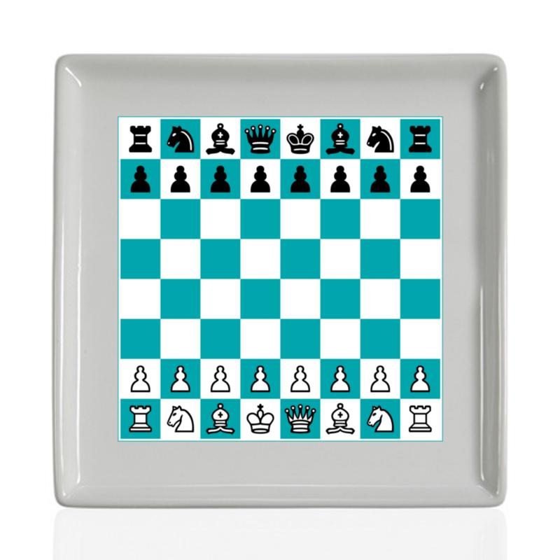 Printio Тарелка квадратная Шахматная доска