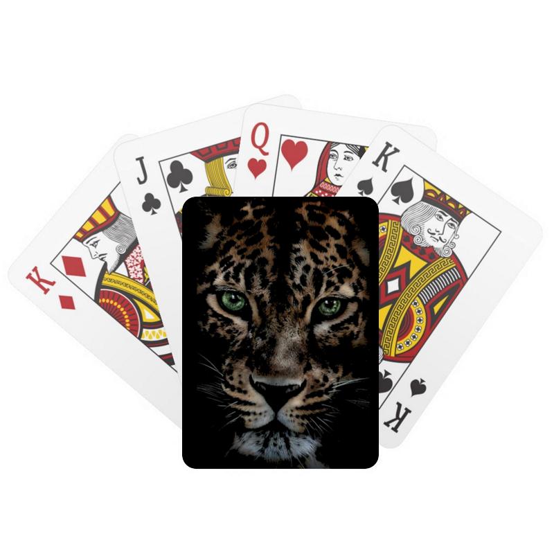 Printio Игральные карты Леопард