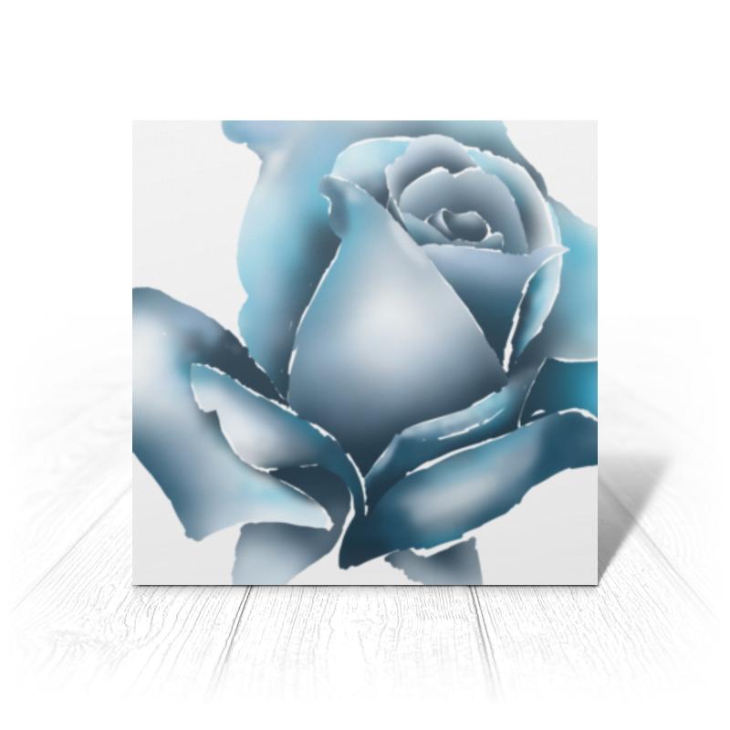 Printio Открытка 15x15 см Ледяная роза недорого