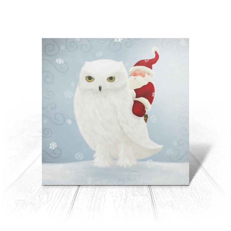 Printio Открытка 15x15 см Санта на сове printio открытка 15x15 см санта