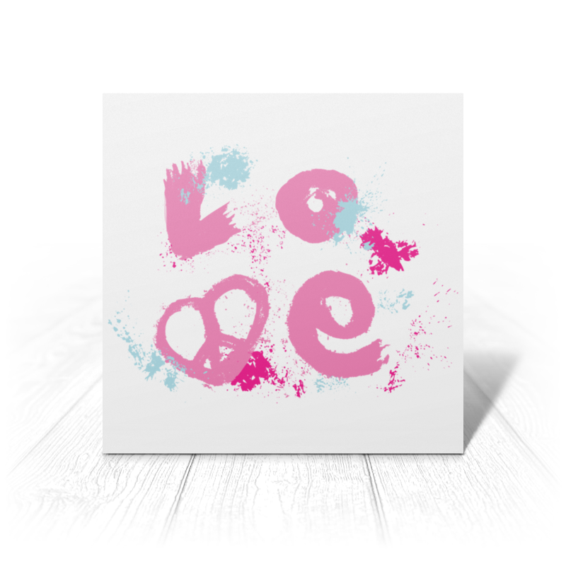 Printio Открытка 15x15 см Надпись love