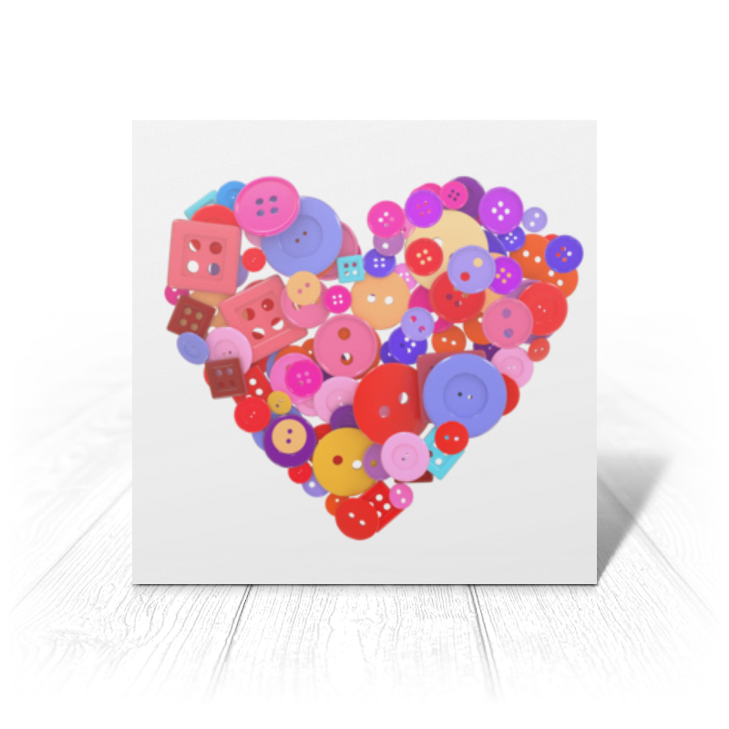 Printio Открытка 15x15 см День всех влюбленных