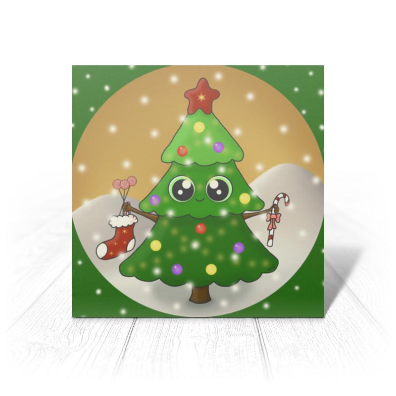 Printio Открытка 15x15 см Новогодняя ёлочка