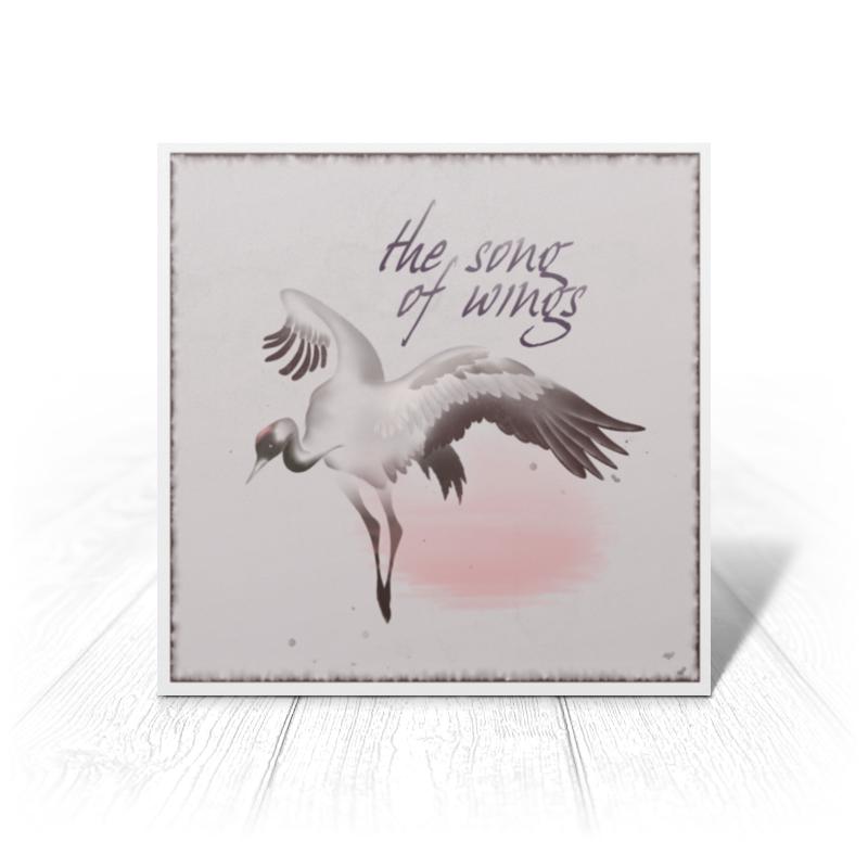 Printio Открытка 15x15 см Песня крыльев