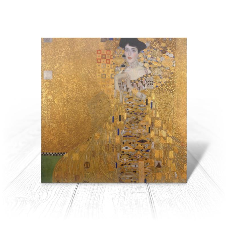 Printio Открытка 15x15 см Портрет адели блох-бауэр i (густав климт)
