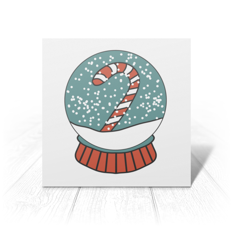 Printio Открытка 15x15 см Снежный шар