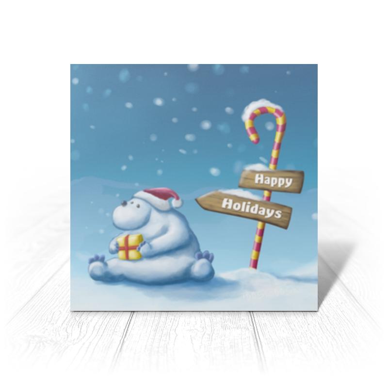 Фото - Printio Открытка 15x15 см Happy holiday printio открытка 15x15 см лев тотем