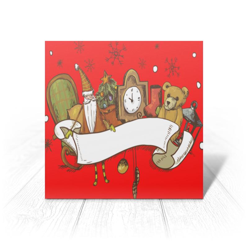 Printio Открытка 15x15 см Новый год