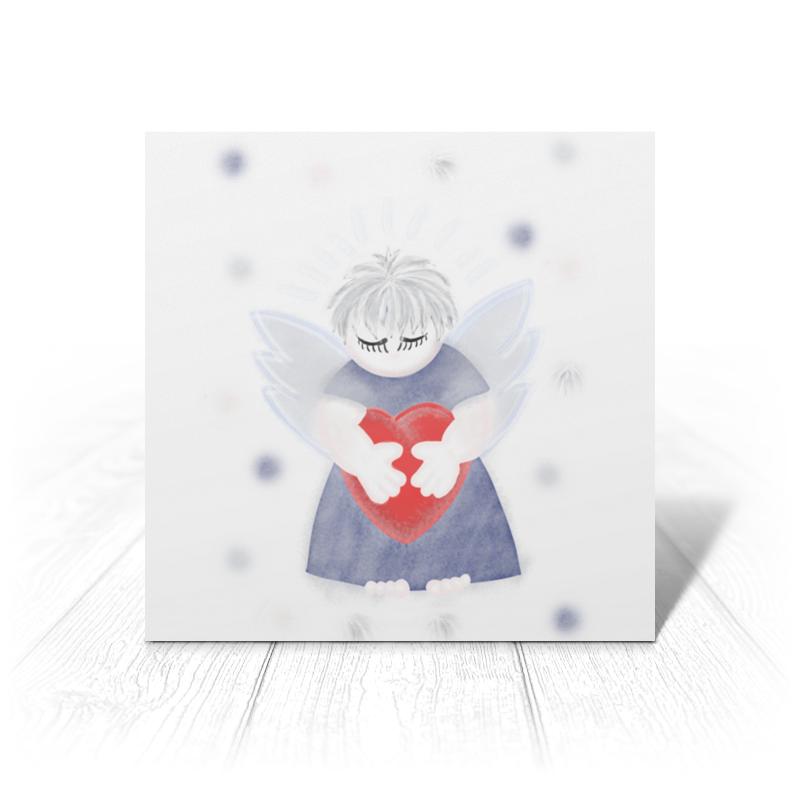 Printio Открытка 15x15 см Маленький сердечный ангел