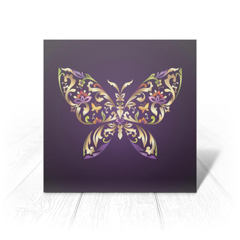Printio Открытка 15x15 см Узорчатая бабочка