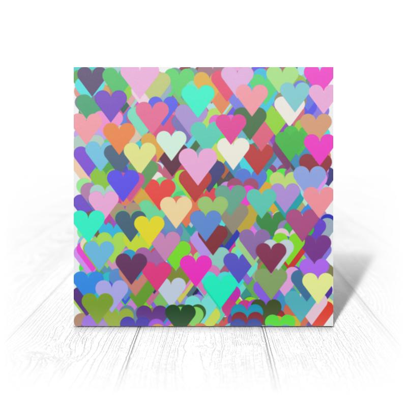 Printio Открытка 15x15 см Валентика я тебя люблю (сердце+сердечки) printio коврик для мышки сердце я тебя люблю валентинка