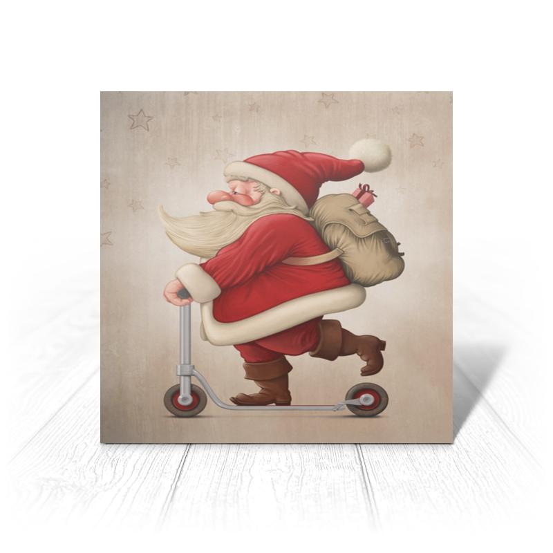 Printio Открытка 15x15 см Санта на самокате printio открытка 15x15 см санта