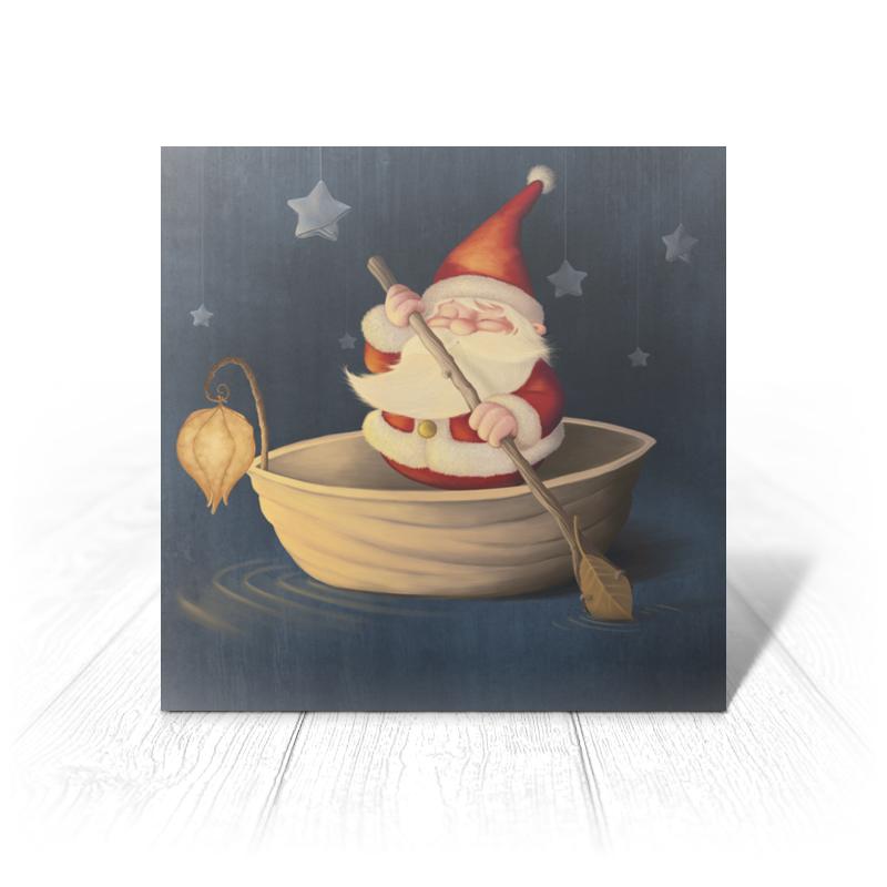 Printio Открытка 15x15 см Санта в лодке printio открытка 15x15 см санта