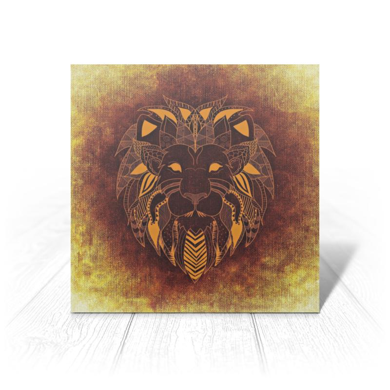 Фото - Printio Открытка 15x15 см Лев тотем printio открытка 15x15 см лев тотем