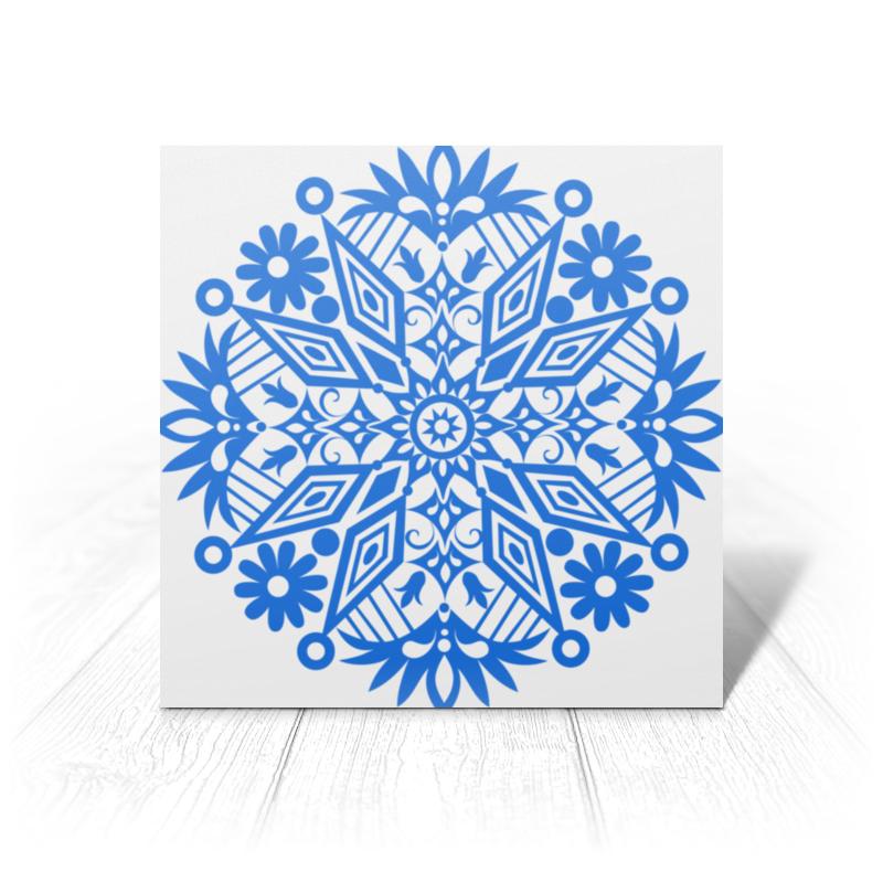 Printio Открытка 15x15 см Новогодние узоры