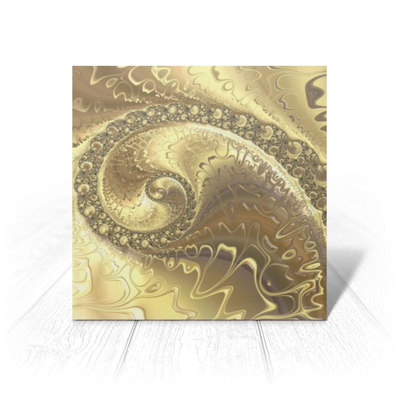 Printio Открытка 15x15 см Золото