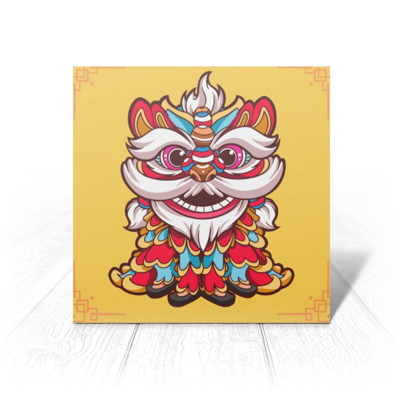 Фото - Printio Открытка 15x15 см Китайский лев printio открытка 15x15 см лев тотем