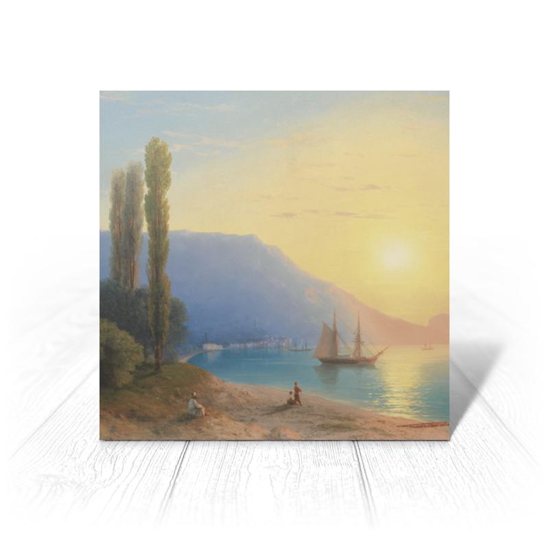 Printio Открытка 15x15 см Закат в ялте (картина айвазовского)