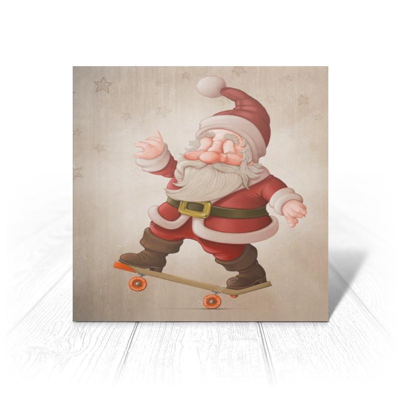 Printio Открытка 15x15 см Санта клаус printio открытка 15x15 см санта