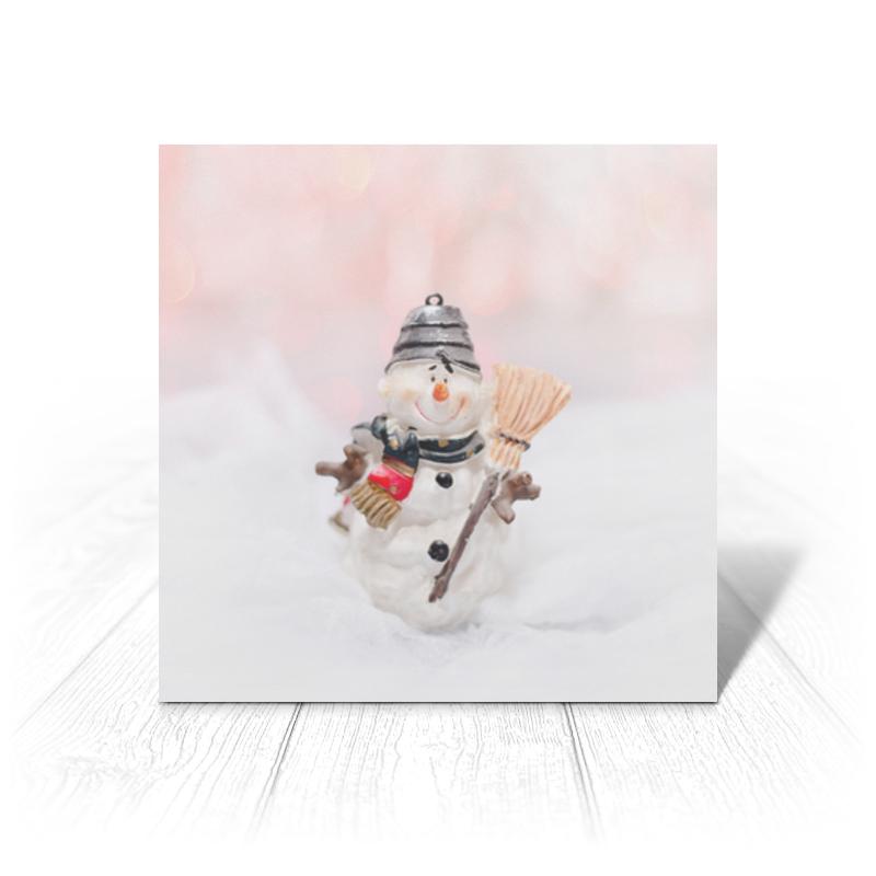 Printio Открытка 15x15 см Снеговик