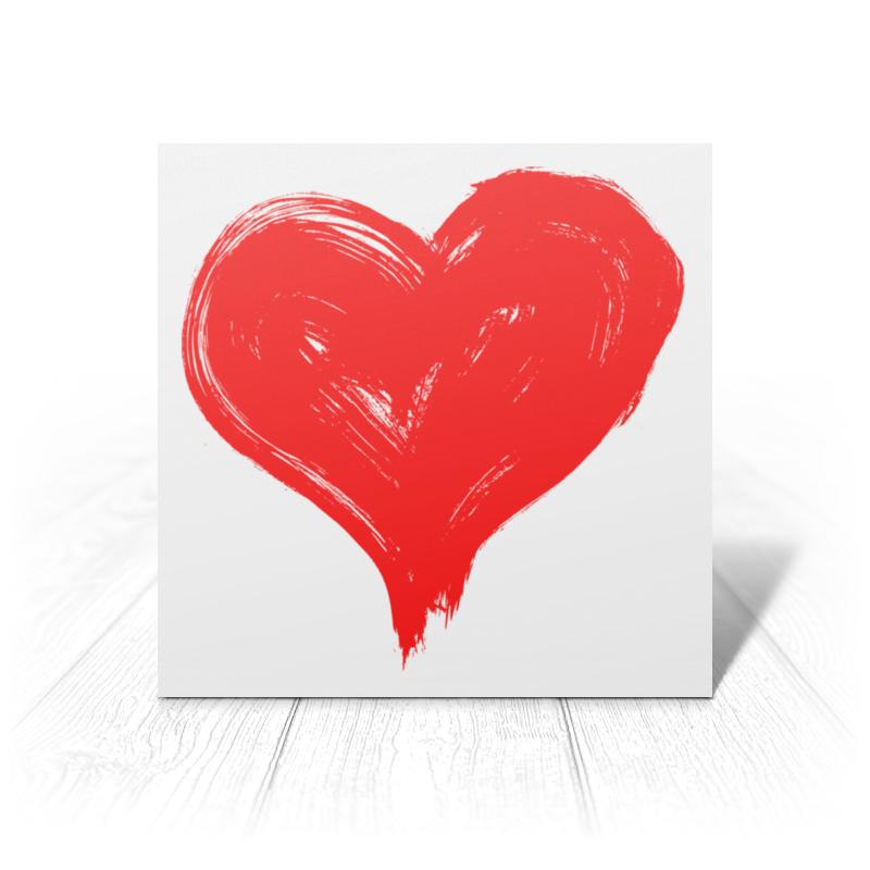 Printio Открытка 15x15 см Сердце