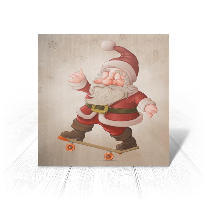 Printio Открытка 15x15 см Санта на доске printio открытка 15x15 см санта