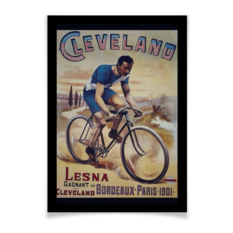Printio Плакат A3(29.7×42) Велосипедист ретро printio сумка ретро плакат
