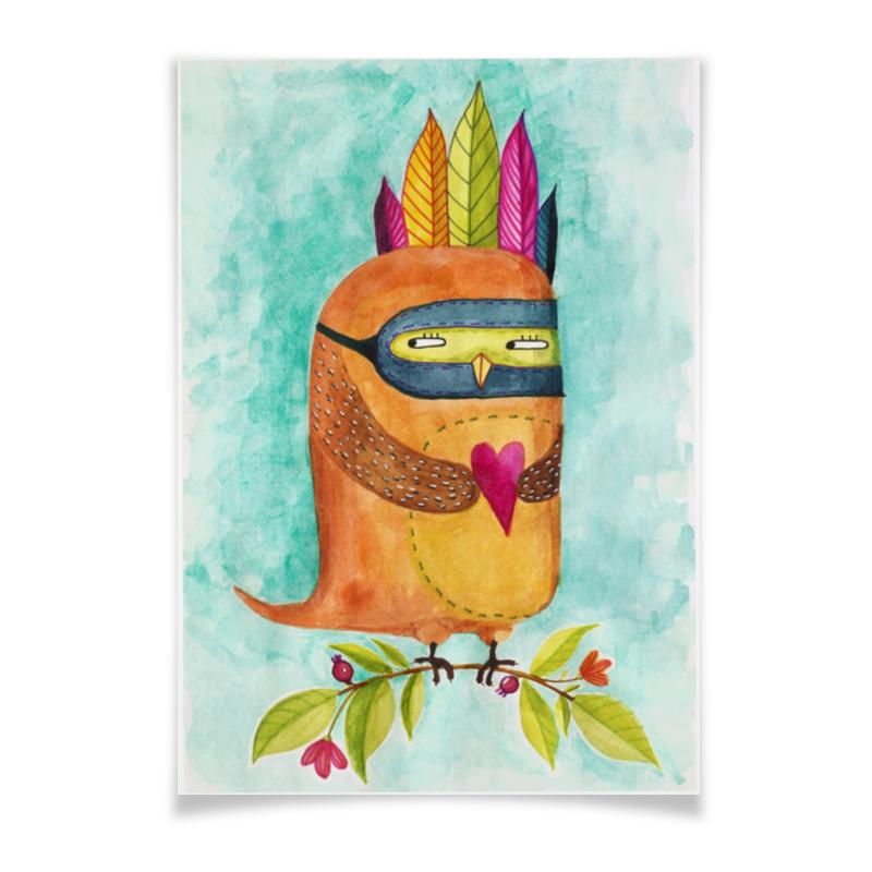 Printio Плакат A3(29.7×42) Рыжая сова индеец