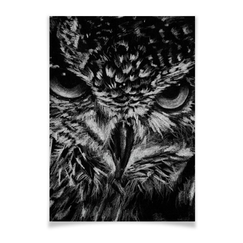 Printio Плакат A3(29.7×42) Черно-белая сова