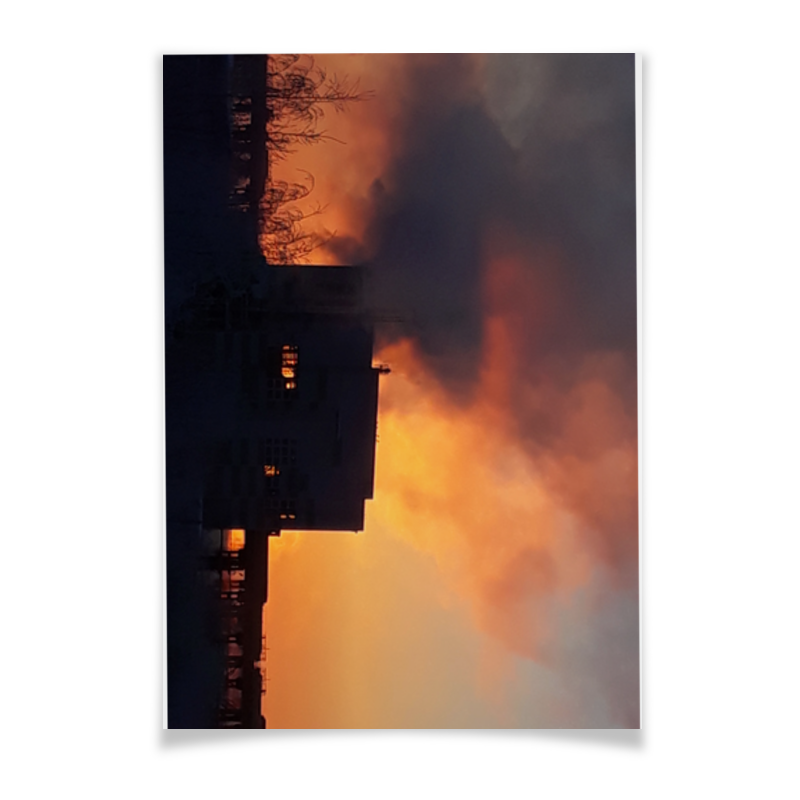 Printio Плакат A3(29.7×42) Рассвет, похожий на пожар