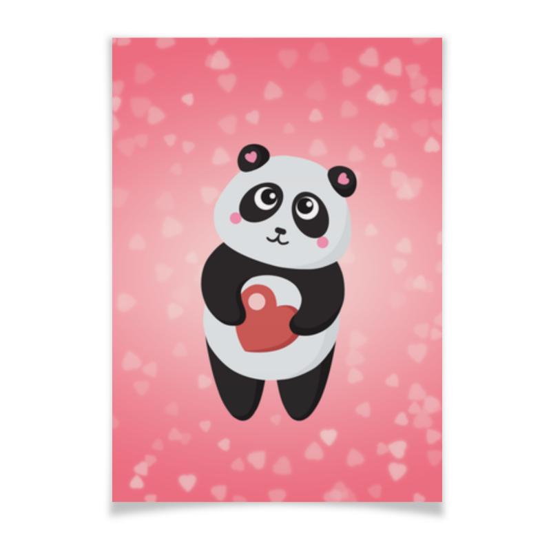 Printio Плакат A3(29.7×42) Панда с сердечком