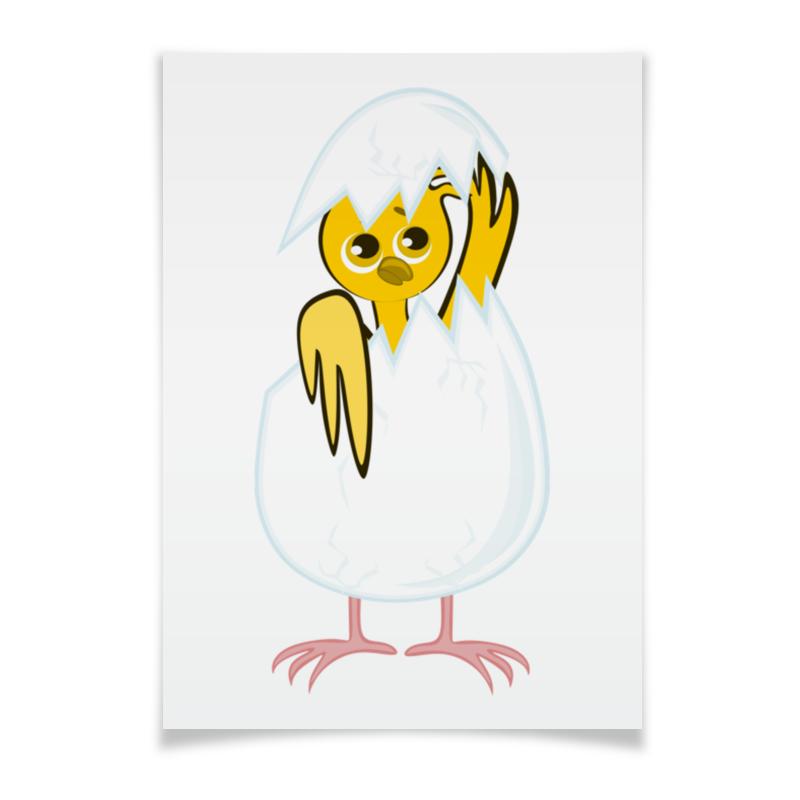 Printio Плакат A3(29.7×42) Желтый новорожденный цыпленок