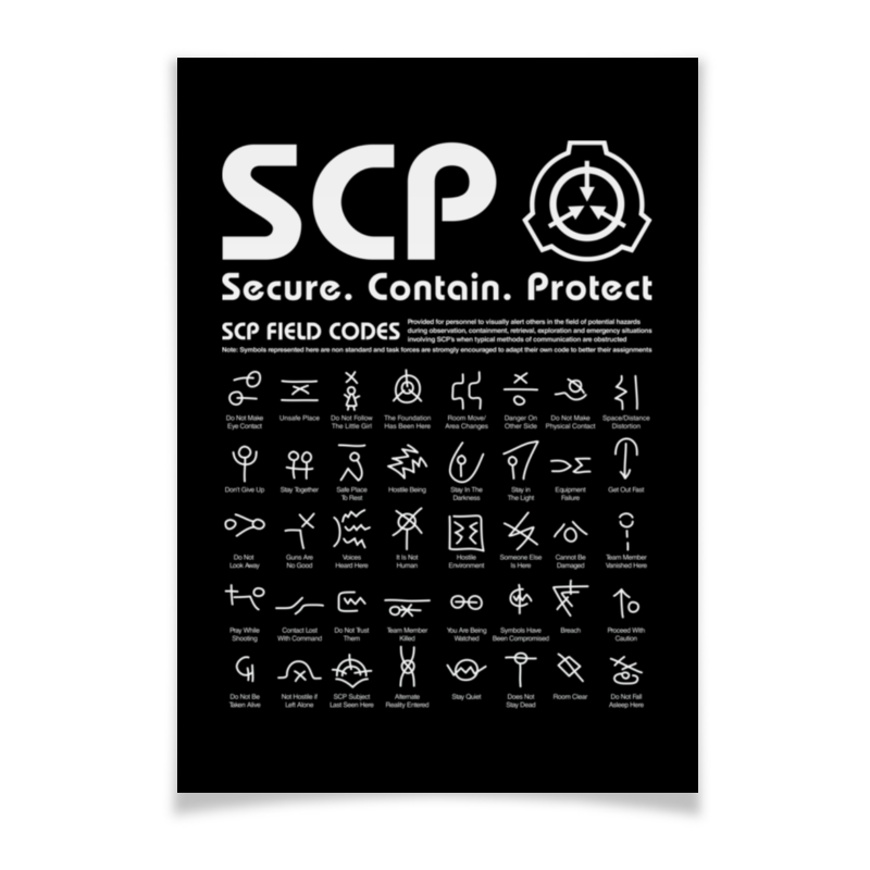 Printio Плакат A3(29.7×42) Scp foundation printio плакат a3 29 7×42 scp euclid