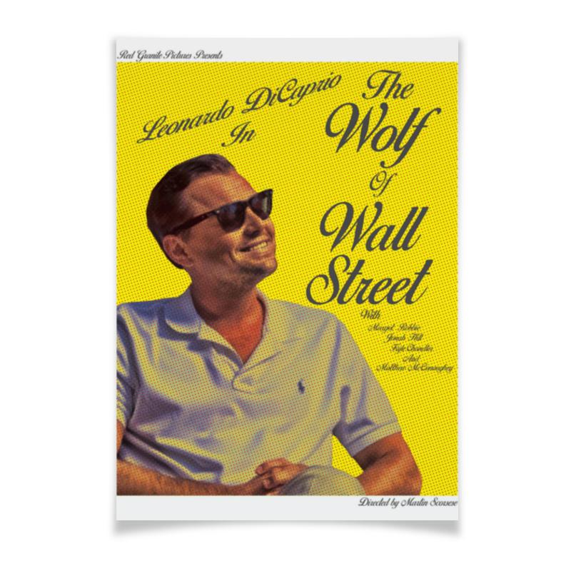 Printio Плакат A3(29.7×42) Волк с уолл-стрит / the wolf of wall street